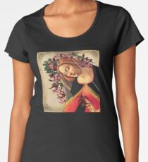She Wore a Crown of Amaryllis Premium Scoop T-Shirt