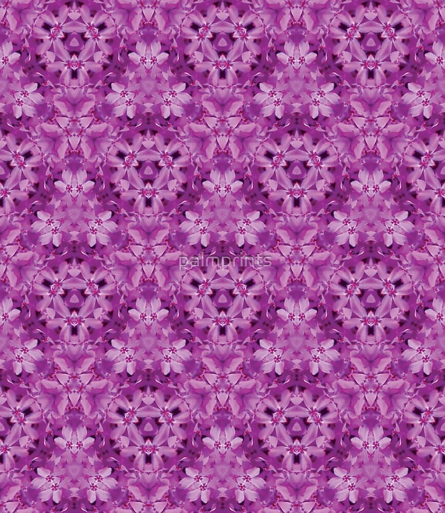 Magenta Flowers in p3m1 by palmprints