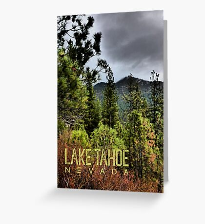 Spooner Summit (Lake Tahoe, Nevada) Greeting Card