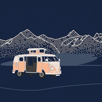 Campervan With Lake And Mountains by fundog