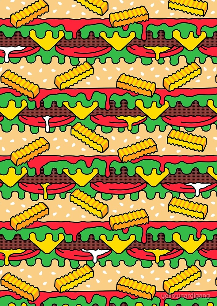 Burgers & Fries by yellowcardigang