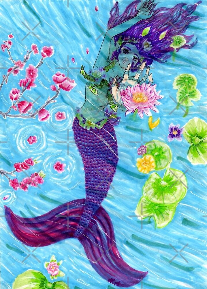 Floral Mermaid by SisterHipster1