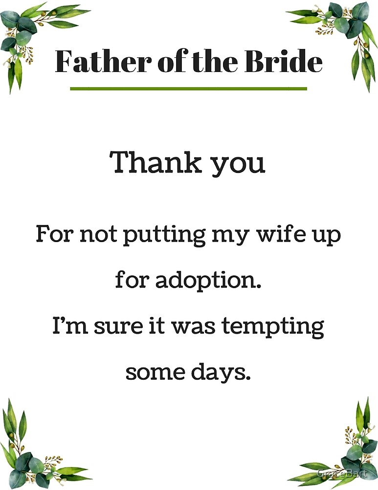 Father of the Bride by GraceBart