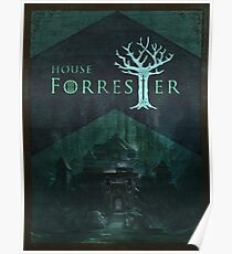 House Forrester Woodblock Poster Poster