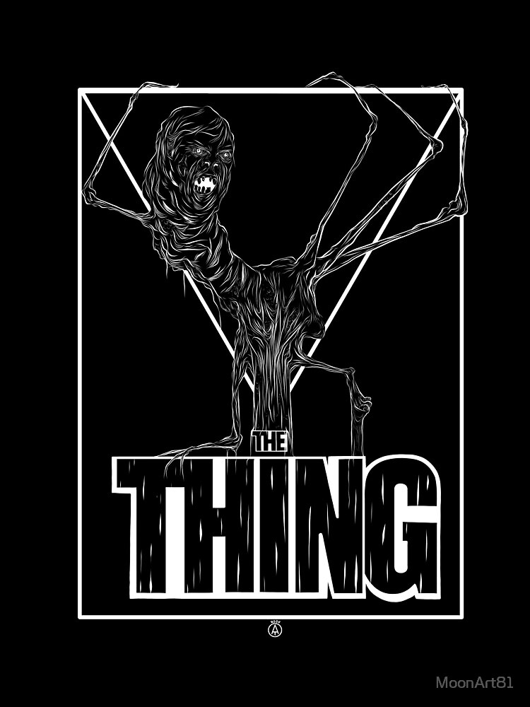 The thing white on black by MoonArt81