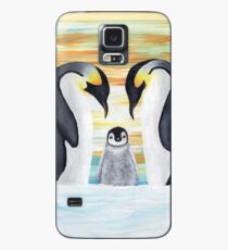 Penguin Family with Baby Penguin Case/Skin for Samsung Galaxy