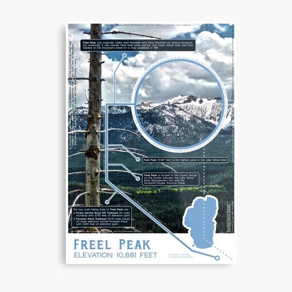 Freel Peak Infographic Metal Print