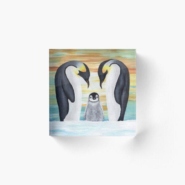 Penguin Family Baby Acrylic Block