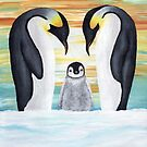 Penguin Family with Baby Penguin by ironydesigns