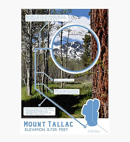 Mount Tallac Infographic Photographic Print