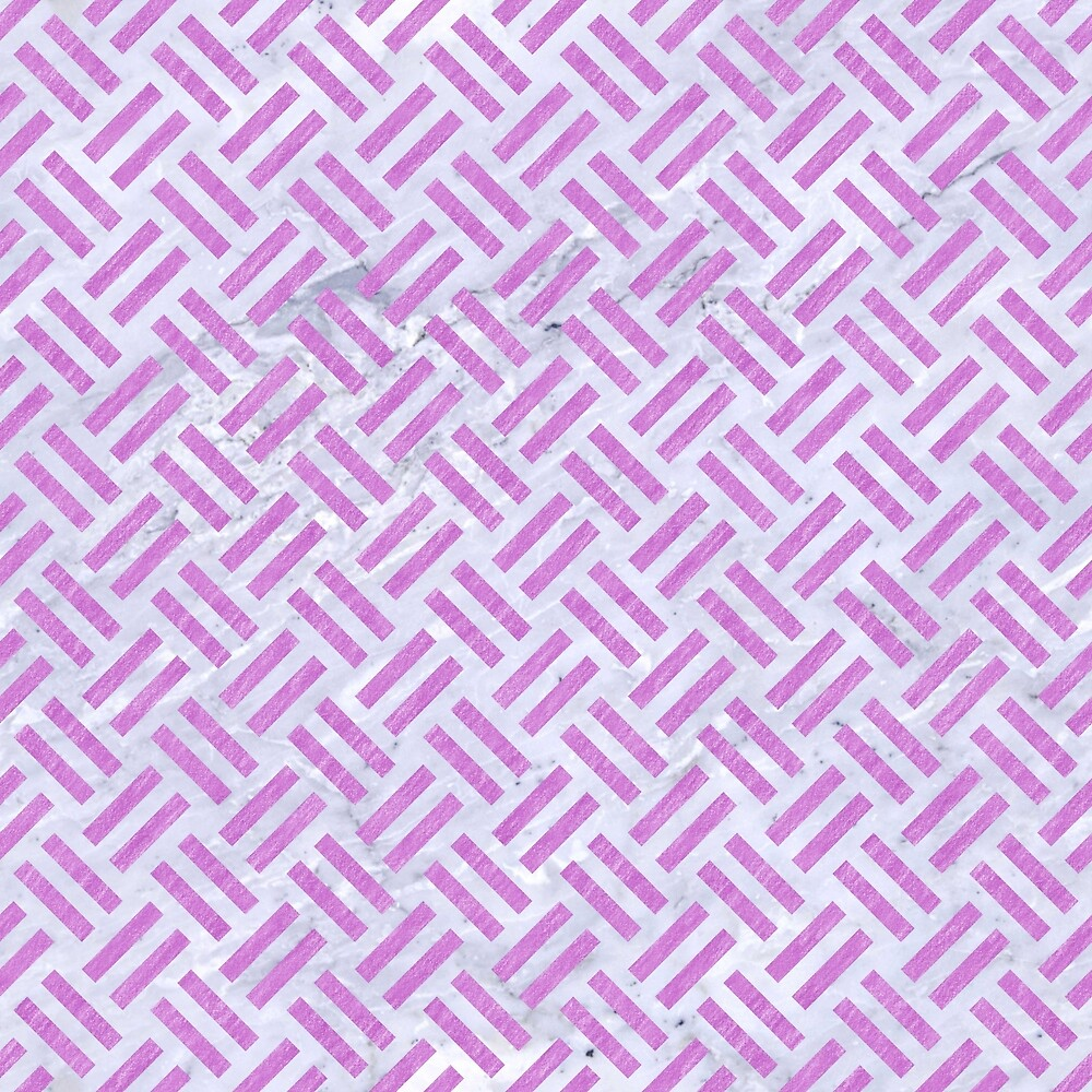 WOVEN2 WHITE MARBLE & PURPLE COLORED PENCIL (R) by johnhunternance