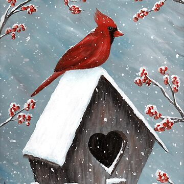 Northern Cardinal Bird Painting by ironydesigns