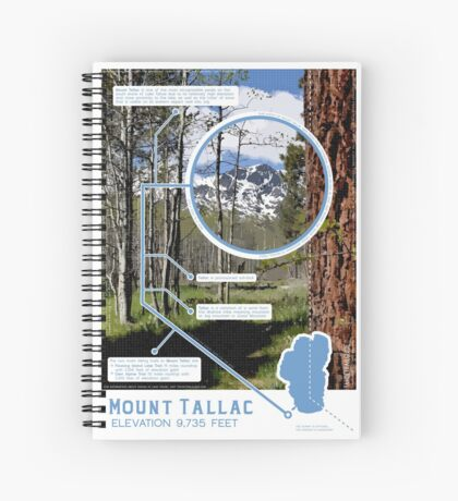 Mount Tallac Infographic Spiral Notebook