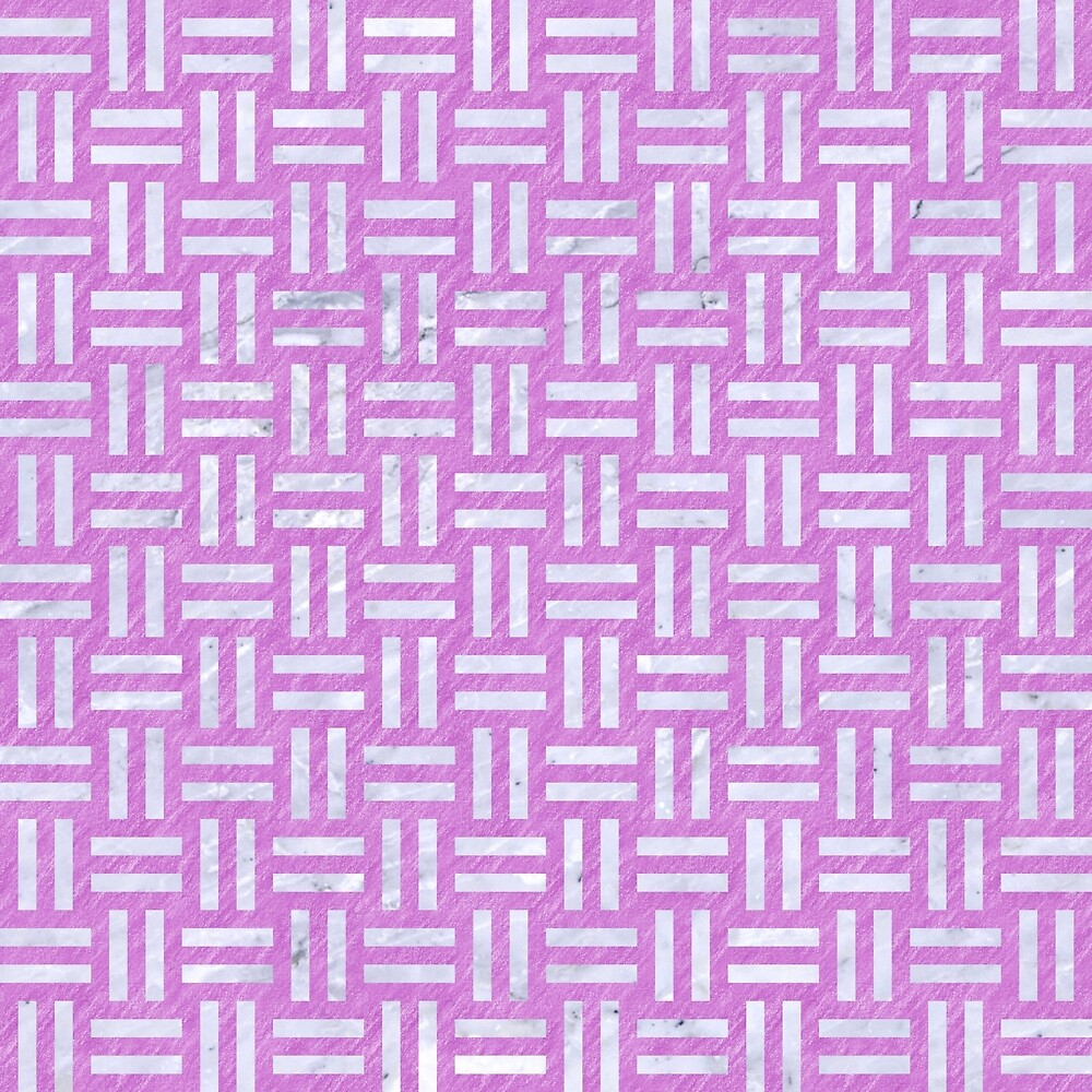 WOVEN1 WHITE MARBLE & PURPLE COLORED PENCIL by johnhunternance