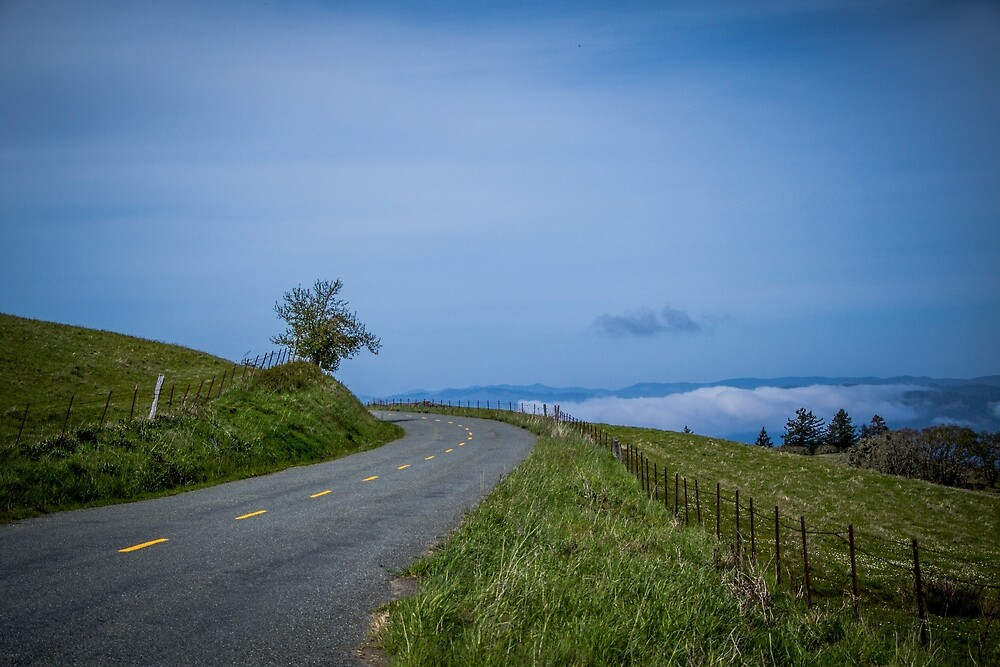 A road above the clouds.  by Jillian Butolph
