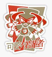 Fierce Mascot Stencil Sticker