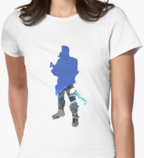 Axton Double Exposure  Women's Fitted T-Shirt