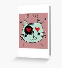 Cat in love Greeting Card