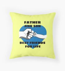 1st Fathers Day - Father And Son Floor Pillow