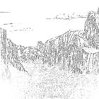 Yosemite Valley (stylized) by Ed Moore