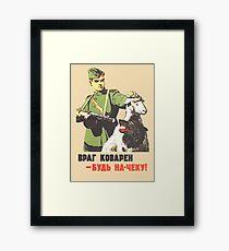WW2 Soviet Poster Framed Print