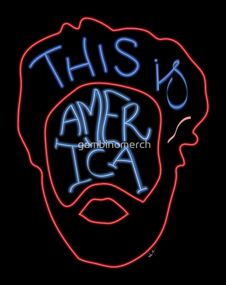 This Is America - Neon by gambinomerch