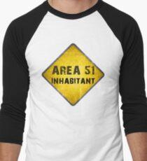 Area 51 Men's Baseball ¾ T-Shirt