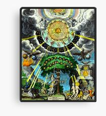 ALCHEMICAL HERMETRIC and MYSTICAL EMBLEMS PRINT Canvas Print