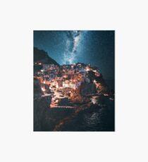 Manarola in der Nacht mit Sternen Galeriedruck