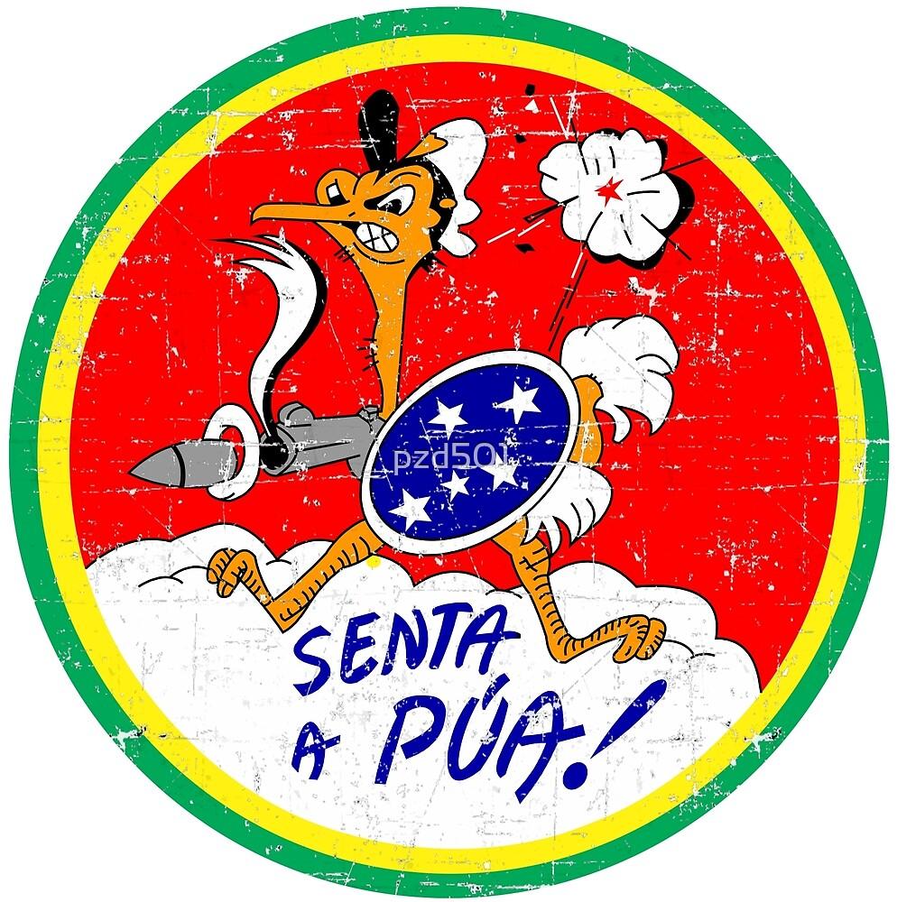 Badge 1st Brazilian Fighter Squadron - Senta a Pua! - Italy 1944-45 by pzd501