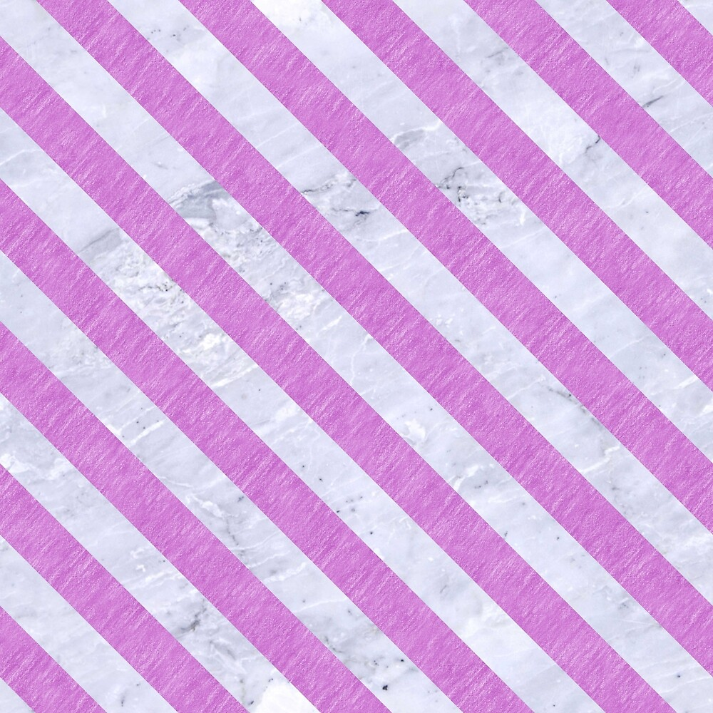 STRIPES3 WHITE MARBLE & PURPLE COLORED PENCIL by johnhunternance