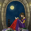 A Little Midnight Reading by SamanthaJeanArt