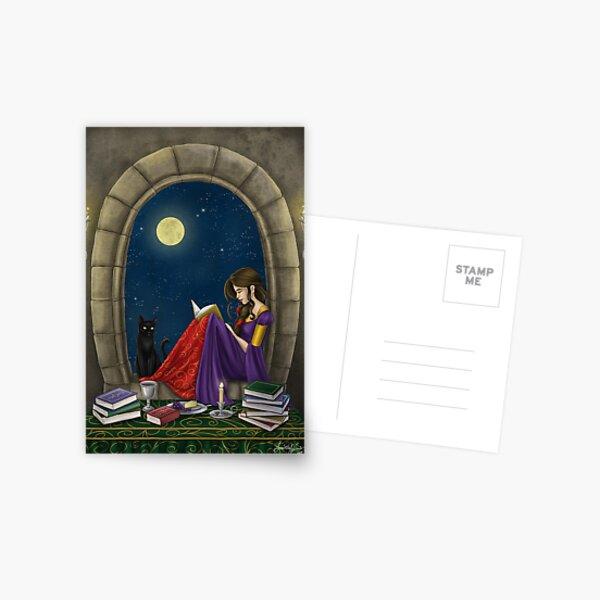 A Little Midnight Reading Postcard