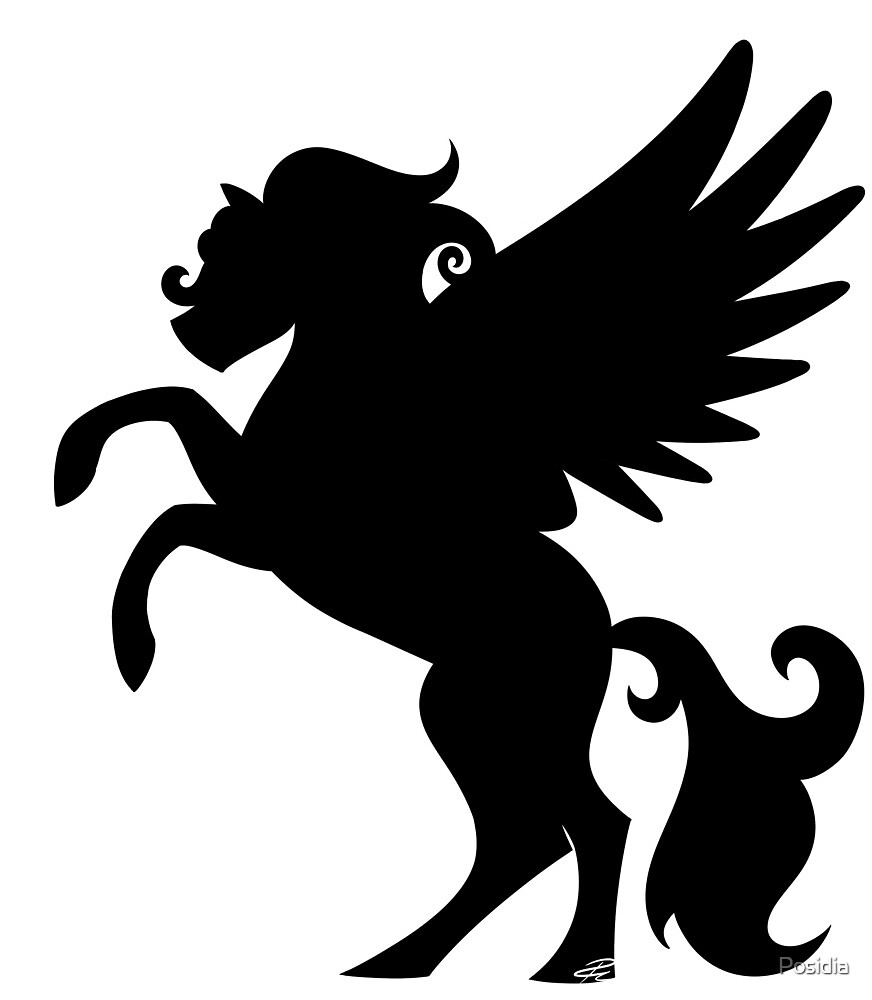 Pegasus Silhouette by Posidia