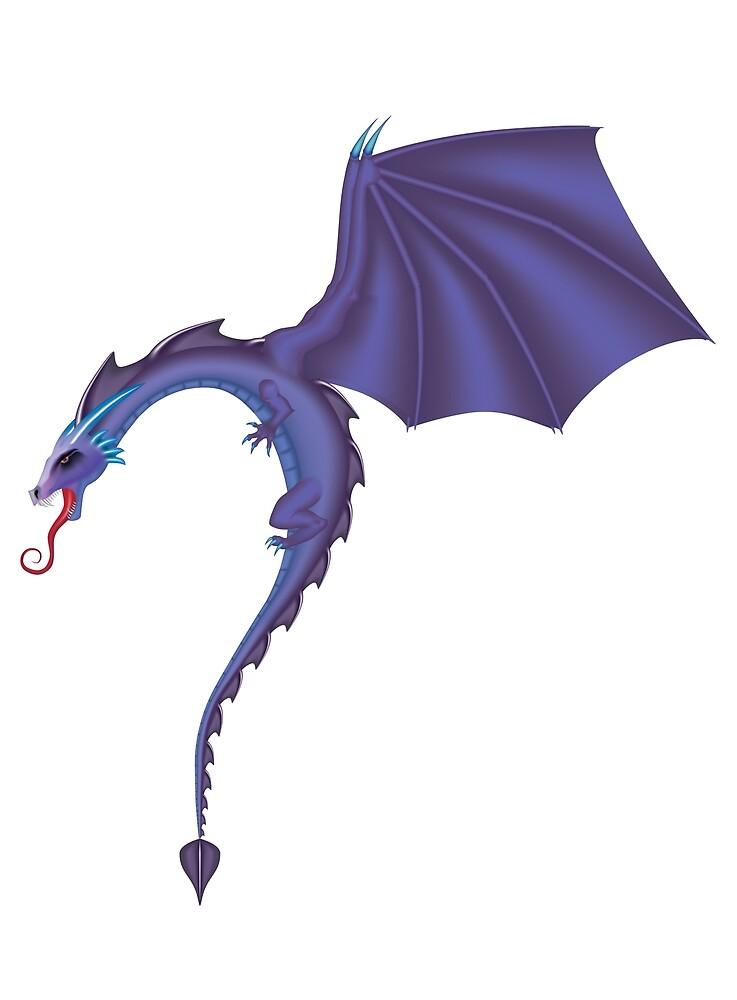Purple Dragon by badbluedragon