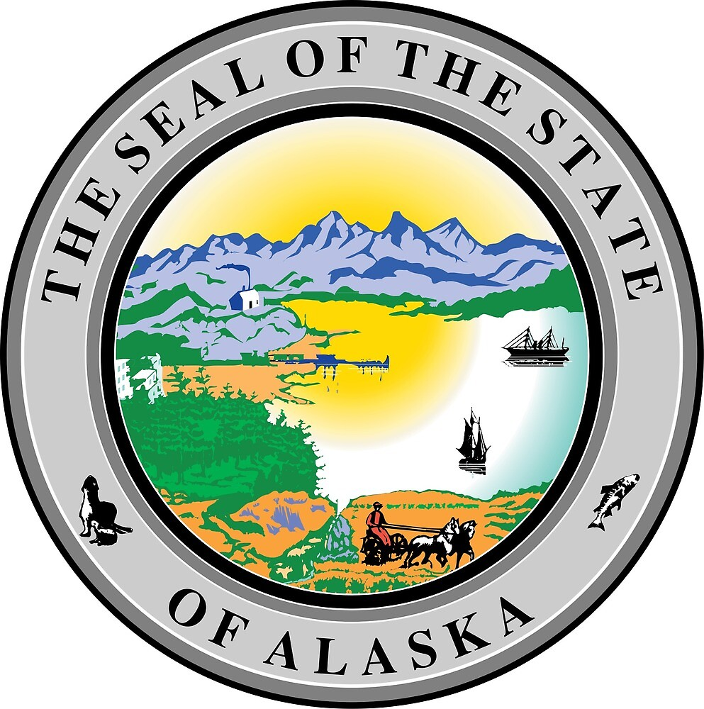 Seal of Alaska  by ofmany