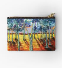 Deep Sunset and Cold Trees Studio Pouch