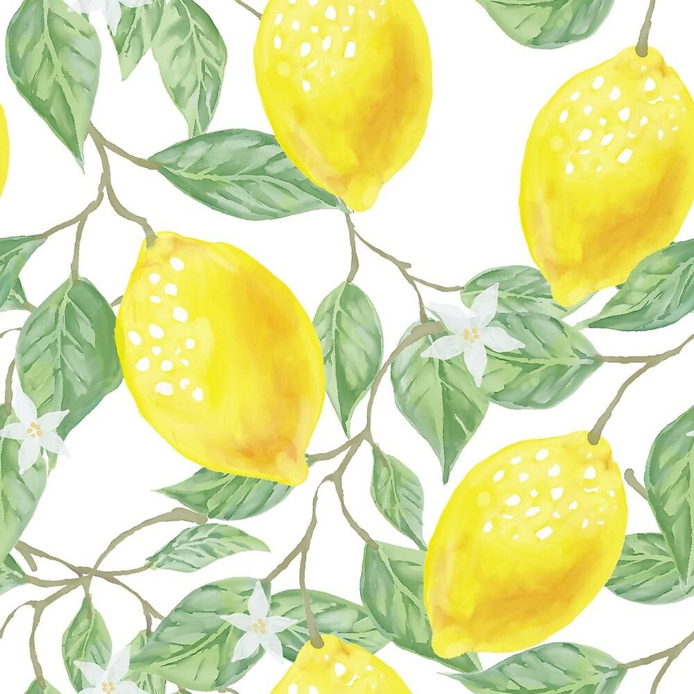 Lemons-Watercolor by ColorsOfAutumn