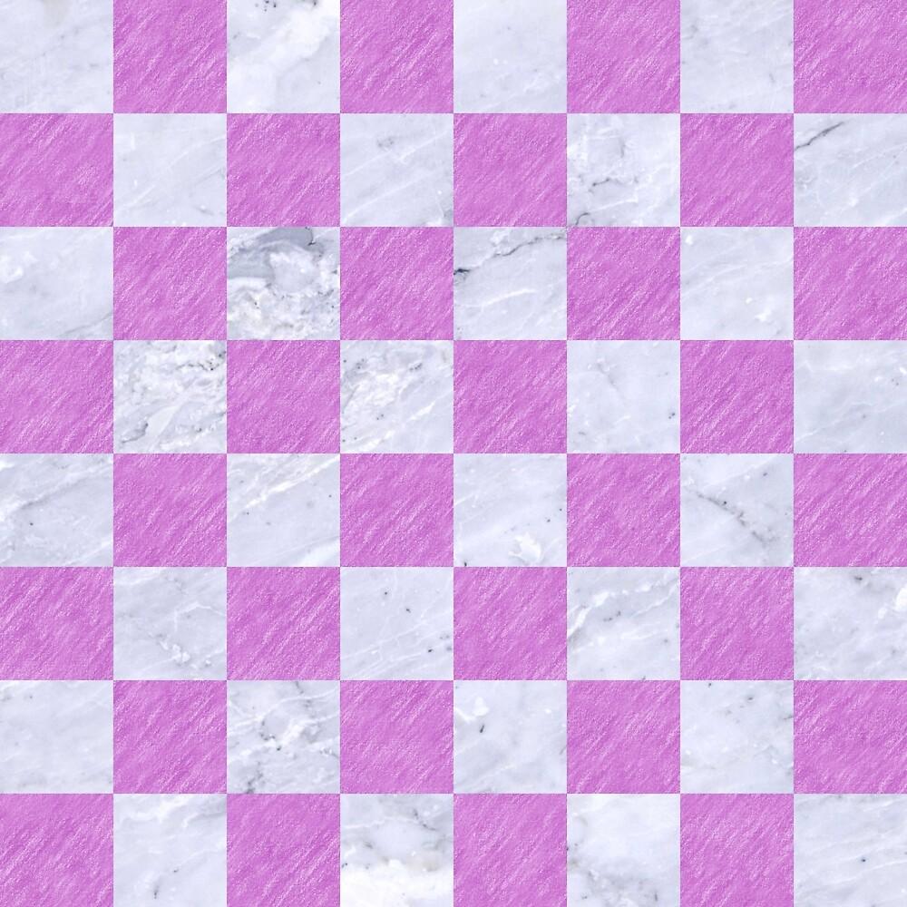SQUARE1 WHITE MARBLE & PURPLE COLORED PENCIL by johnhunternance