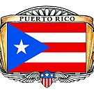 Puerto Rico Art Deco Design with Flag by Cleave