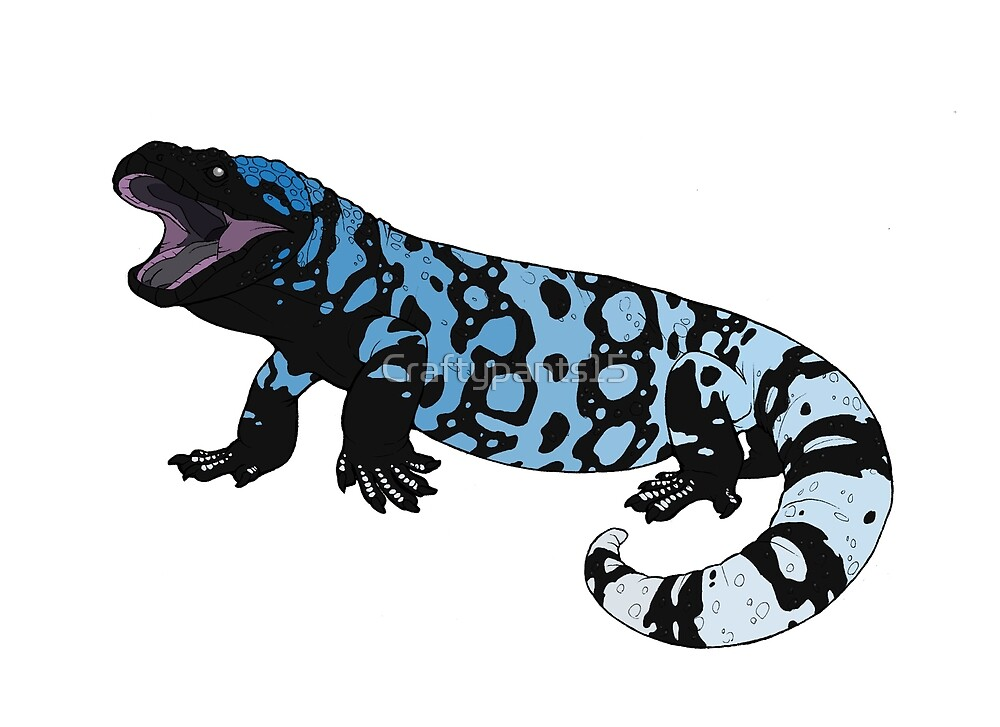 Gila Monster (Heloderma suspectum) by Craftypants15