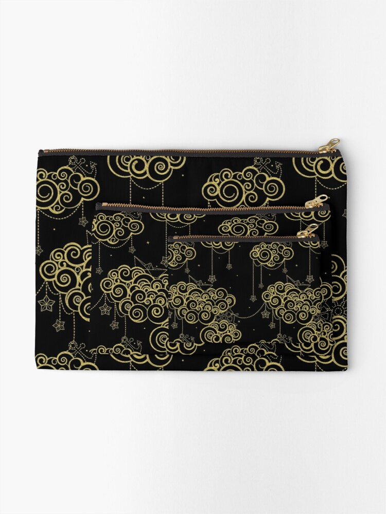 Alternate view of Gold Nautical Skies Zipper Pouch