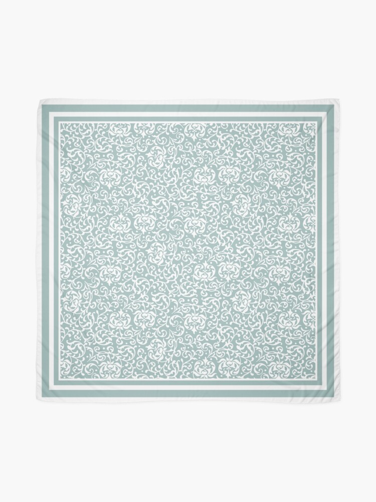 Alternate view of Victorian Floral Celadon Green Scarf