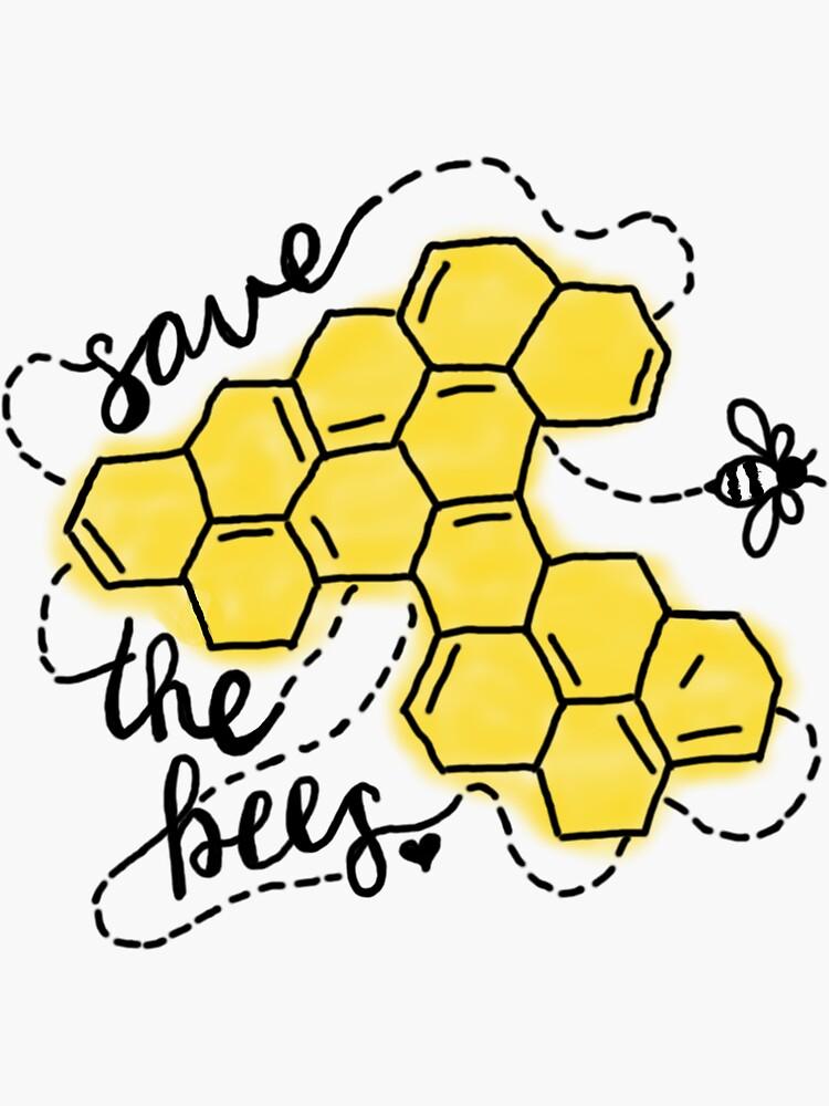 Save the Bees Honeycomb by nalathedog