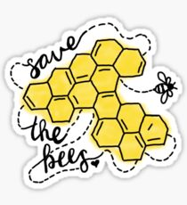Save the Bees Honeycomb Sticker