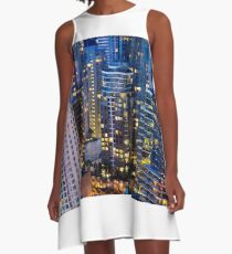Downtown Robson Vancouver A-Line Dress