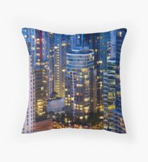 Downtown Robson Vancouver Throw Pillow