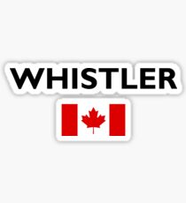 Whistler Canada Canadian Flag Color Light Sticker