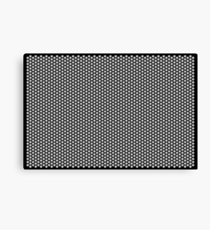 Hexagonal Turtle Pattern Black & White 001 Canvas Print