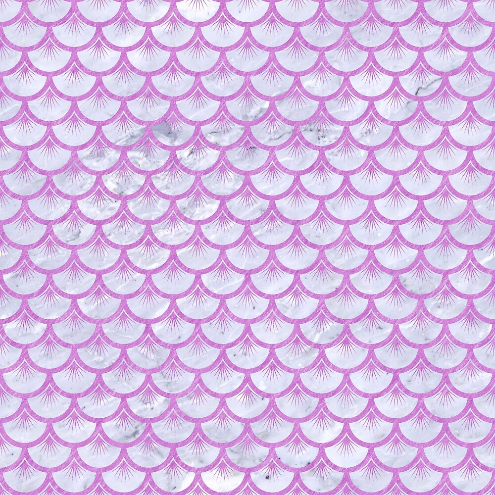SCALES3 WHITE MARBLE & PURPLE COLORED PENCIL (R) by johnhunternance